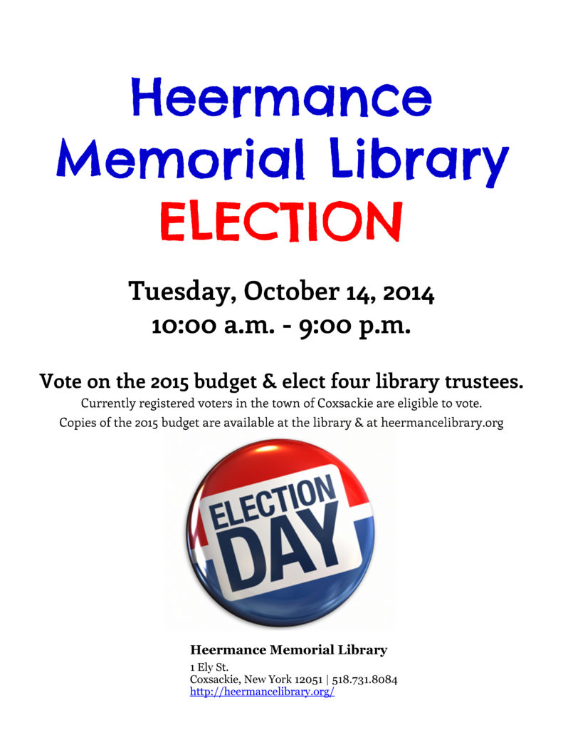 Heermance Memorial Library - Flyer