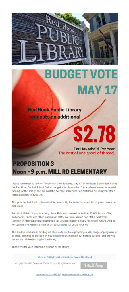 Red Hook Public Library Budget Referendum Notice